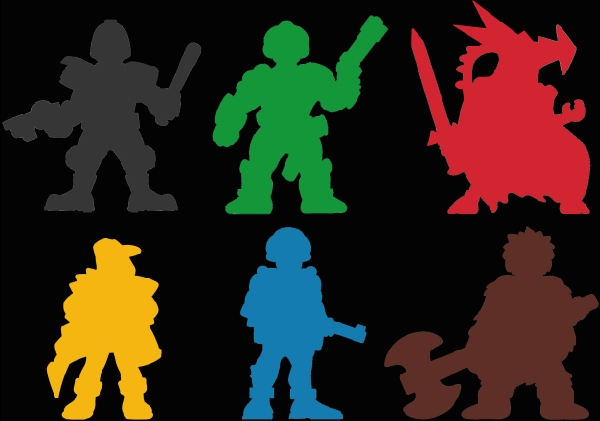 Meeple silhouettes